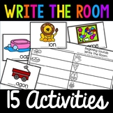 Kindergarten Write the Room Pack! 10 Activities! Literacy Centers! Math Centers!