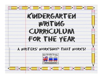 Kindergarten Writer's Workshop Curriculum - ALL YEAR!