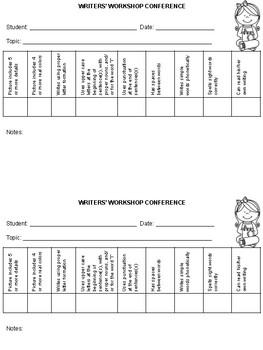 Kindergarten Writers' Workshop Resources