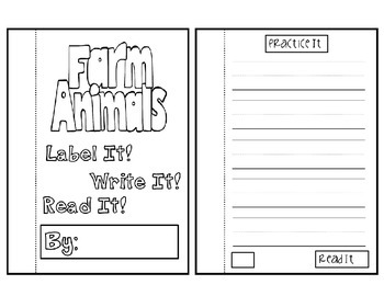 Kindergarten Writing-Farm Animals