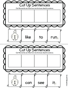 Writing Sentences (PreK and Kindergarten)