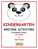 Kindergarten Writing Activities: Standards Based