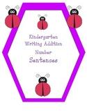 Kindergarten Writing Addition Number Sentences