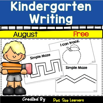 Kindergarten Writing August  Free