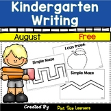 Writing Activities | Writing Journals | August | Kindergarten | Free