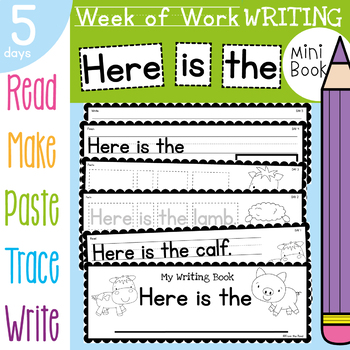 Week of Writing Book - Daily Writing Activities and Prompts - Here is the