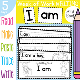 Writing Book - I am - Week of Sequenced Activities
