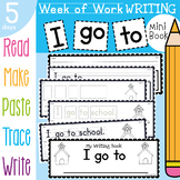 Writing Book - A Week of Writing {I go to school}