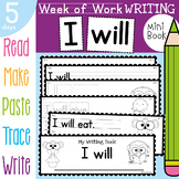 Valentine's Day Writing Book Activities - 5 Day Learning Book