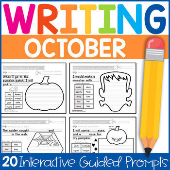 Kindergarten Writing Prompts: A Year of Guided Writing (GROWING BUNDLE)