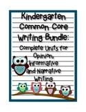 Kindergarten Writing Bundle: Opinion, Informative & Narrative Writing