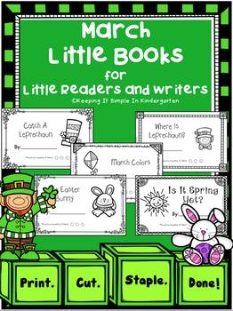 Kindergarten Writing Center -  March Little Books