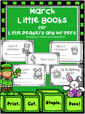 Kindergarten Writing Center -  March Little Books