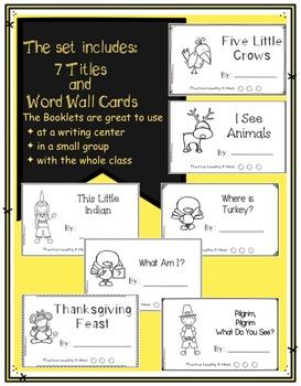 Kindergarten Writing Center - November Books for Little Readers and Writers