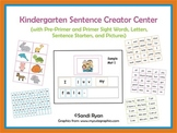 Kindergarten Writing Center - Sentence Creator