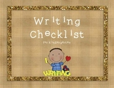 Kindergarten Writing Checklist