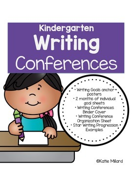 Kindergarten Writing Conferences Pack