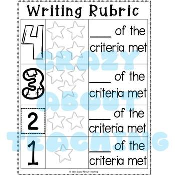 Kindergarten Writing Criteria & Rubric