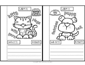 Kindergarten Writing-Different Pets