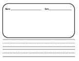Kindergarten Writing Folder Two Lines
