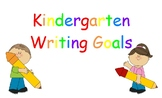 Kindergarten Writing Goals