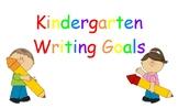 Kindergarten Writing Goals