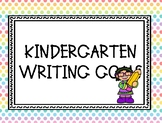 Kindergarten Writing Goals Clip Chart