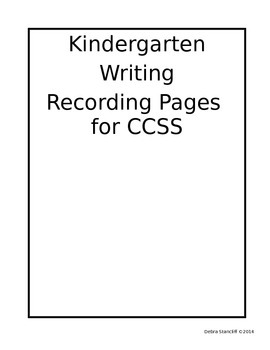 Kindergarten Writing Grade Sheets Editable