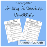 Kindergarten Writing and Reading Growth Evaluation #loveliteracy