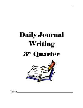 Kindergarten Writing Journal 3rd Qtr