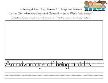 Kindergarten Writing Journal - Listening and Learning, Domain 7