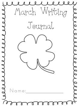 Kindergarten Writing Journal March
