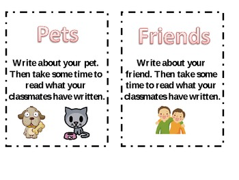 Kindergarten Writing Journal Prompts/Work on Writing
