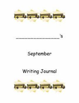 Kindergarten Writing Journal- September