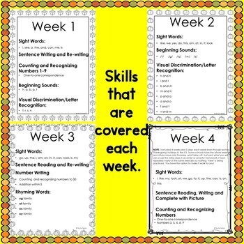 Kindergarten Writing, Kindergarten Morning Work Sight Words Handwriting November