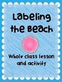 Kindergarten Writing: Labeling The Beach