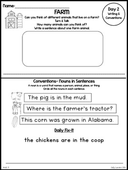 Kindergarten Writing & Language Mini Lessons APRIL