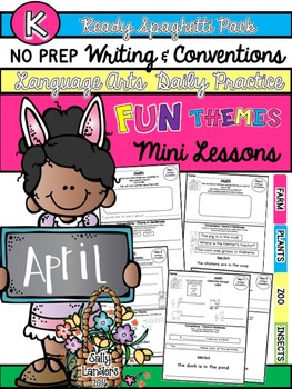 Kindergarten Writing & Language Mini Lessons APRIL