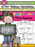 Kindergarten Writing & Language Mini Lessons AUGUST