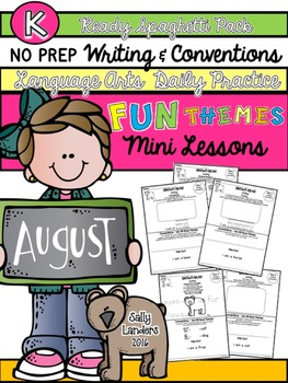 Kindergarten Writing & Language Mini Lessons AUGUST