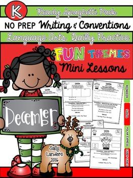 Kindergarten Writing & Language Mini Lessons DECEMBER