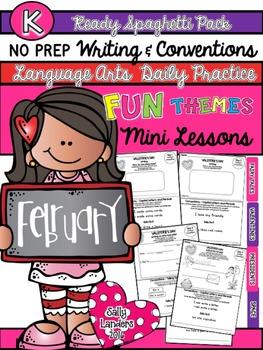 Kindergarten Writing & Language Mini Lessons FEBRUARY