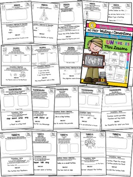 Kindergarten Writing & Language Mini Lessons NOVEMBER