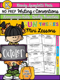 Kindergarten Writing & Language Mini Lessons OCTOBER