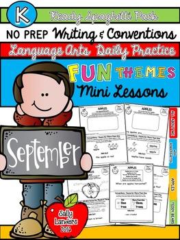 Kindergarten Writing & Language Mini Lessons SEPTEMBER