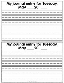 Kindergarten Writing Every Day    May