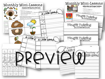 Kindergarten Writing Mini-Lessons April