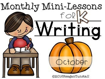 Kindergarten Writing Mini-Lessons Bundle