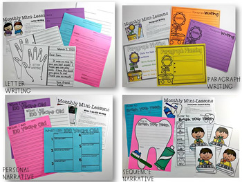 Kindergarten Writing Mini-Lessons February