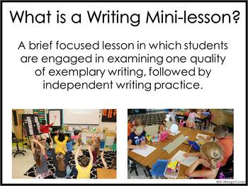 Kindergarten Writing Mini-Lessons October